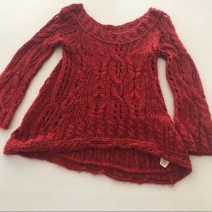 Free People Chunky Knit Bell Sleeve Sweater